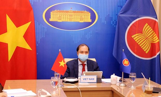 Vietnam attends virtual 34th ASEAN-US Dialogue hinh anh 1