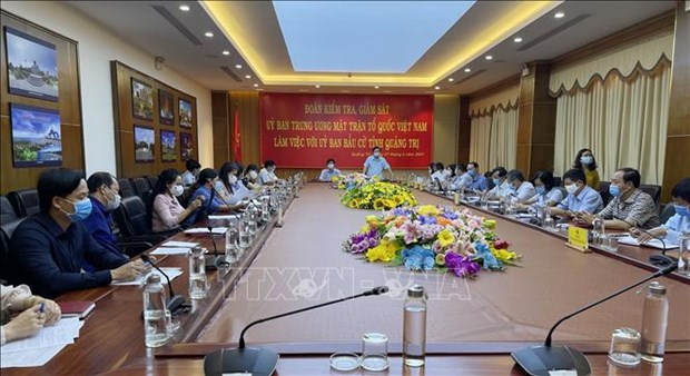 Front leaders inspect election preparations in Ninh Binh, Quang Tri hinh anh 1