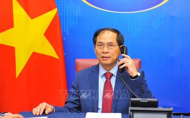 Vietnamese, Cuban Foreign Ministers hold phone talks hinh anh 1