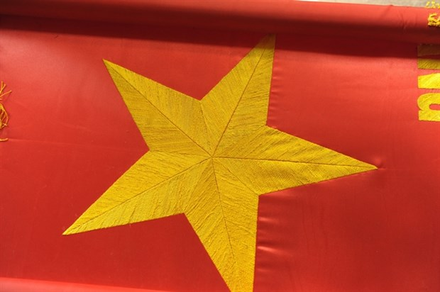 Trade village busy making flags ahead of general election hinh anh 3
