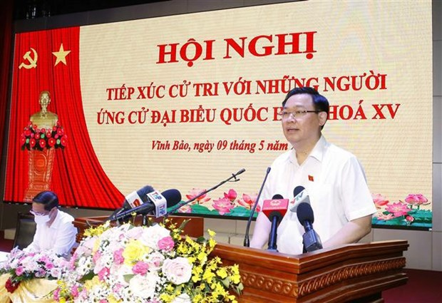 Top legislator meets voters in Hai Phong city hinh anh 1