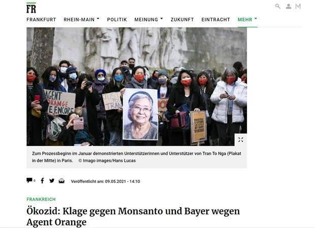 German newspaper: Consequences of Agent Orange lingers in Vietnam hinh anh 1