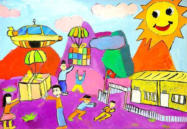 Children's fine arts contest launched hinh anh 1