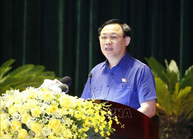 NA Chairman meets with voters in Hai Phong hinh anh 1