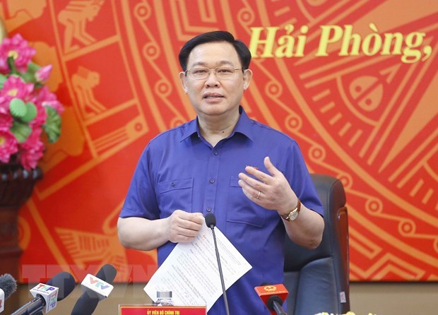 NA Chairman works with Party Committee's Standing Board of Hai Phong city hinh anh 1