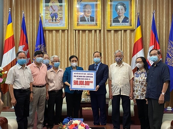 Friendship association provides aid for Cambodia to fight COVID-19 hinh anh 1