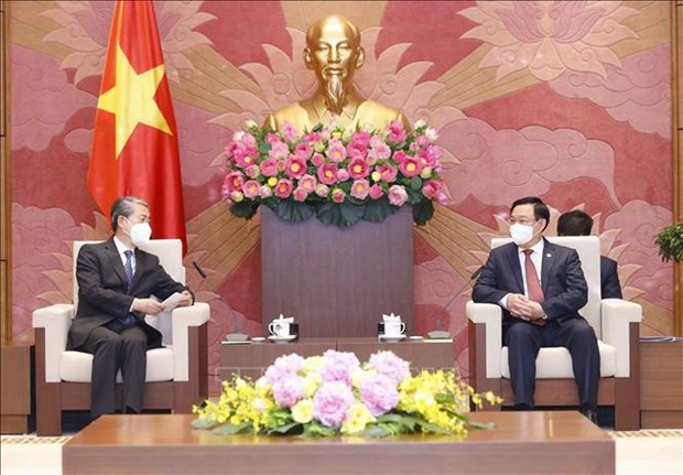 National Assembly Chairman welcomes Chinese Ambassador hinh anh 2