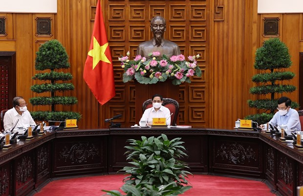 PM urges swift, drastic approach to driving back COVID-19 hinh anh 1