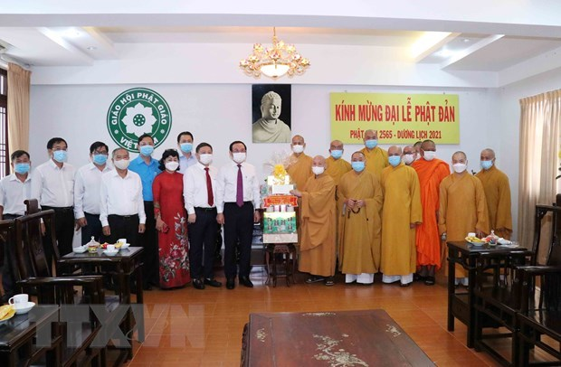 Greetings extended to Buddhists in HCM City on Buddha's birthday hinh anh 1