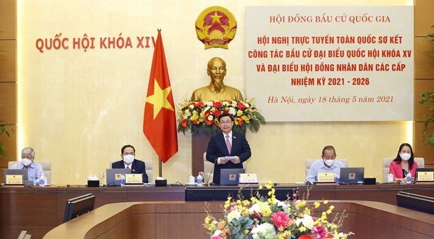 Second national conference on general elections held hinh anh 1