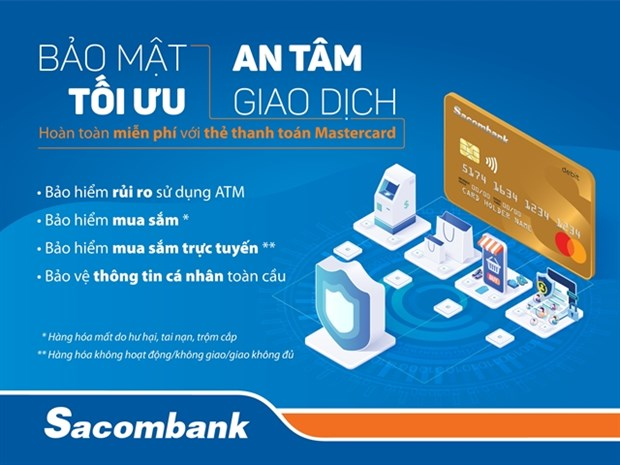 Sacombank Mastercard cards get more protection features hinh anh 1