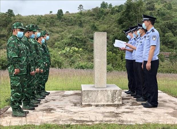 Vietnamese, Chinese border guards meet in Dien Bien hinh anh 1
