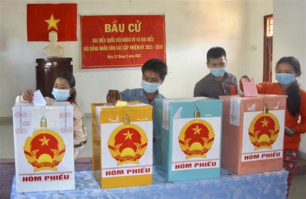 Early elections held in remote areas of Binh Dinh province hinh anh 1