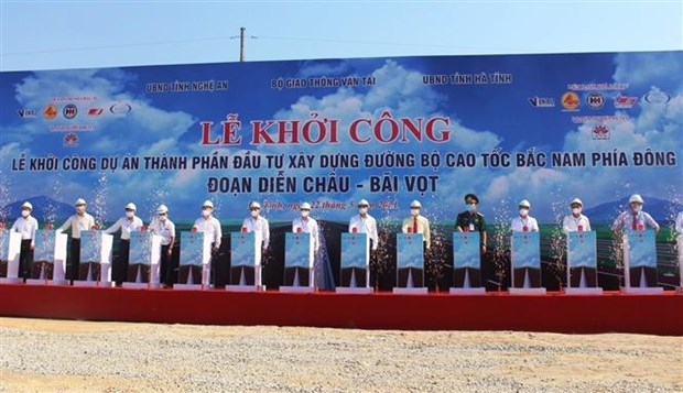 Construction of Dien Chau-Bai Vot section of North-South Expressway begins hinh anh 1