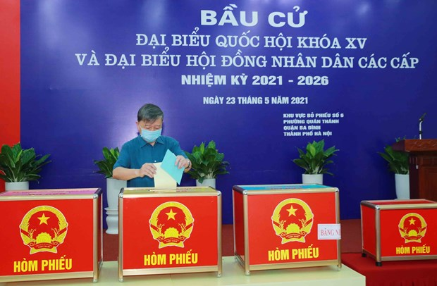 Voting begins in 80,000 voting units nationwide hinh anh 1
