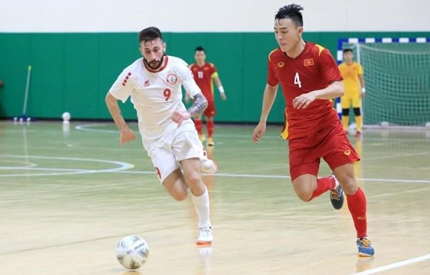 Vietnam tie with Lebanon in Futsal playoff match hinh anh 1