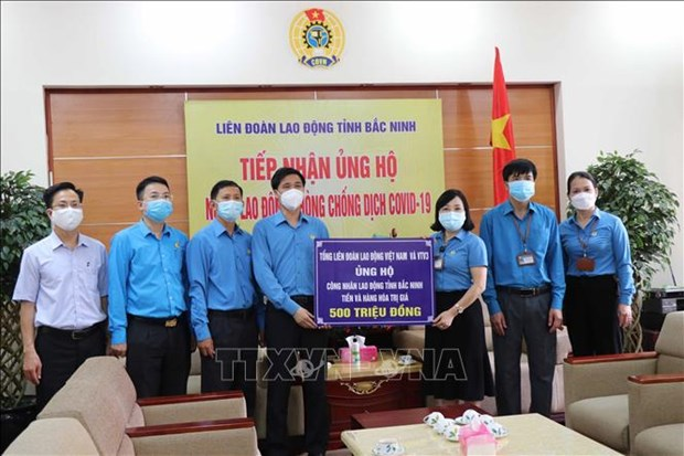 Pandemic-hit workers in Bac Ninh offered support hinh anh 1
