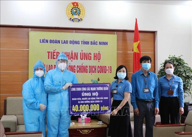 Pandemic-hit workers in Bac Ninh offered support hinh anh 2