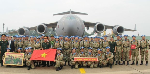 Peacekeeping force helps realise Party's external policy hinh anh 2