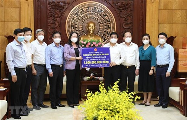 Vice President visits pandemic-hit provinces hinh anh 1