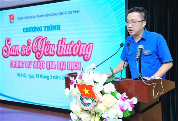Youth Union raises funds for pandemic-hit people, children hinh anh 1