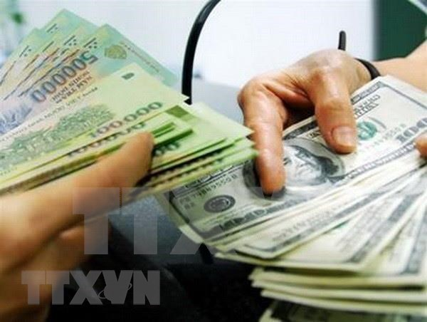 Reference exchange rate revised down 18 VND hinh anh 1
