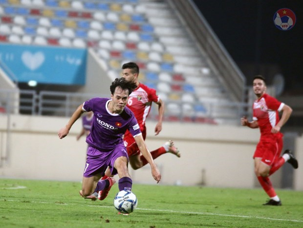 Vietnam draw 1-1 with Jordan in closed door friendly match hinh anh 1