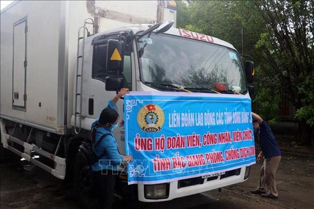 Mekong Delta provinces help pandemic-affected workers in Bac Ninh, Bac Giang hinh anh 1