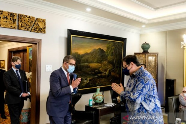 Indonesia, UK discuss preparations for COP26 FACT dialogue hinh anh 1