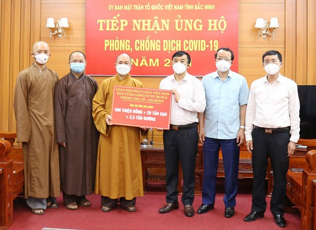 Vietnam Buddhist Sangha supports COVID-19 fight in hotspots hinh anh 1