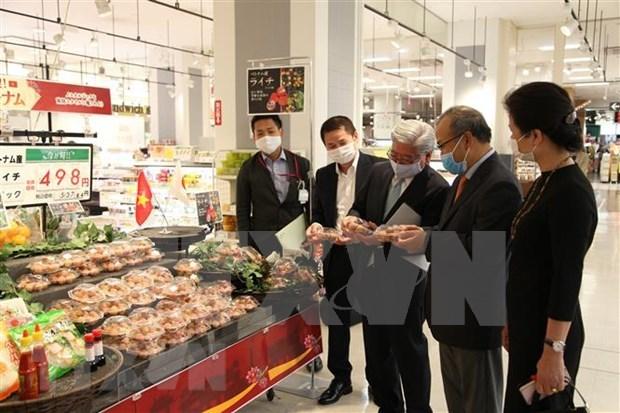 Vietnam's fresh lychees hit shelves in Japan's Kagoshima hinh anh 1