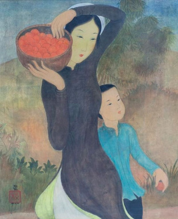 French exhibition set to display artworks by painter Mai Trung Thu hinh anh 1