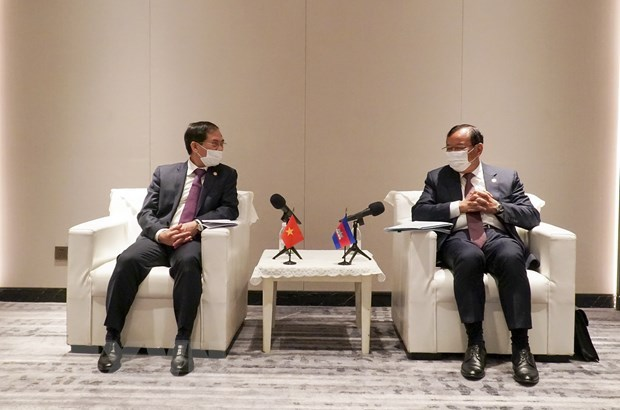 Foreign ministers satisfied with development trend in Vietnam-Cambodia ties hinh anh 1