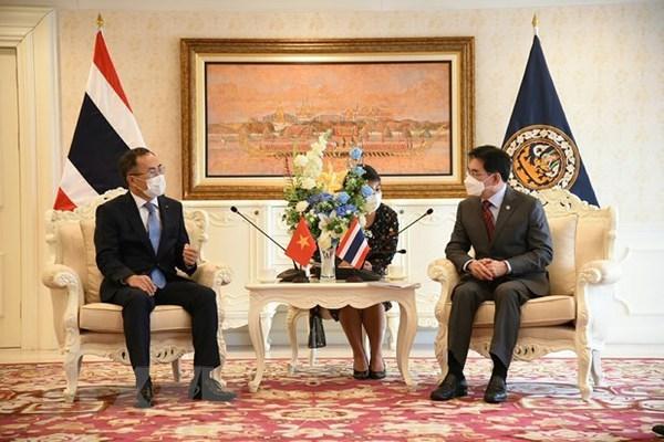 Vietnam-Thailand trade ties flourishing despite COVID-19: Thai Deputy PM hinh anh 1