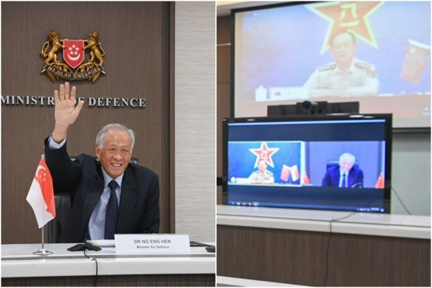 Singapore, China vow to strengthen defence cooperation hinh anh 1