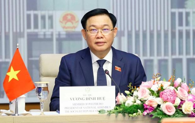 Top Vietnamese, Brunei legislators hold online talks hinh anh 2