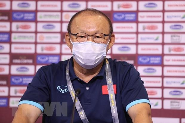 Coach Park Hang-seo: No pressure on national men's football squad hinh anh 1