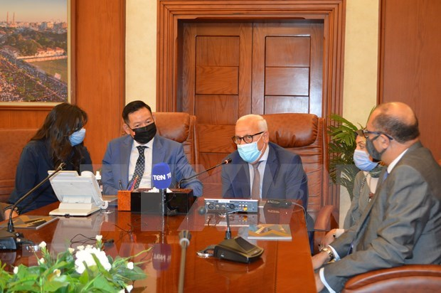 Egyptian localities wish for closer ties with Vietnam in port services, logistics hinh anh 1