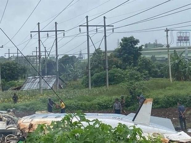 Myanmar: Twelve killed in military plane crash hinh anh 1