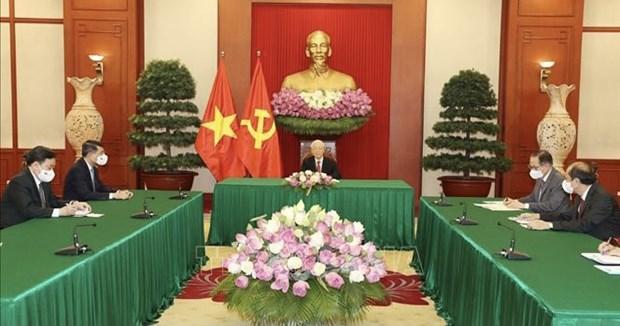 Vietnam treasures ties with Sri Lanka: Party chief hinh anh 1