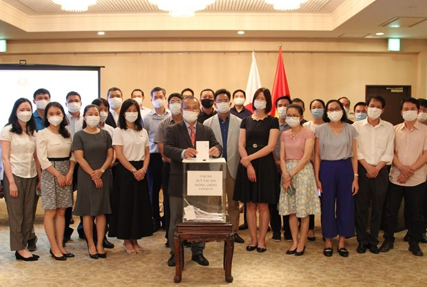 Vietnamese expats in Japan launch fundraising campaign to help Vietnam's COVID-19 fight hinh anh 1