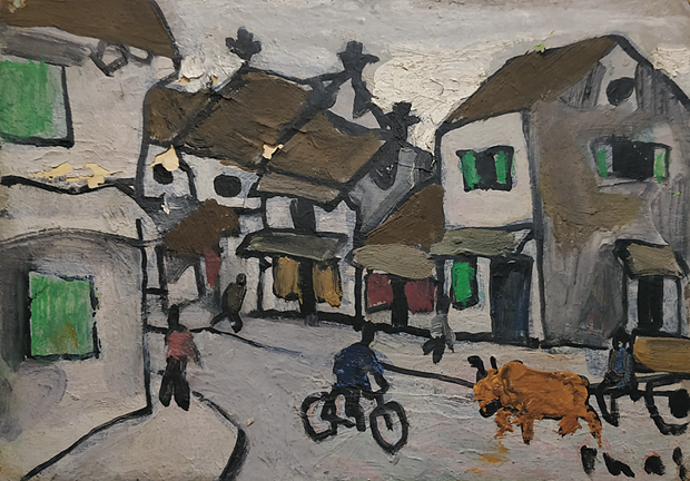 Bui Xuan Phai's paintings to be auctioned in Singapore hinh anh 1