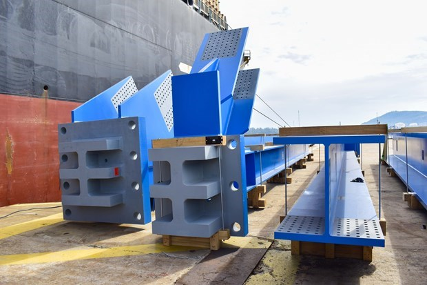 Doosan Vina exports 1,560 tonnes of structural equipment to Indonesia hinh anh 1