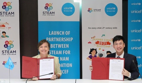 UNICEF partnership brings equitable STEAM learning opportunities to Vietnamese children hinh anh 1