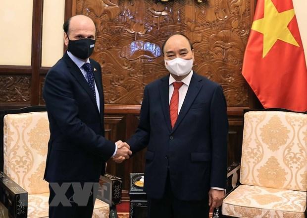 President Nguyen Xuan Phuc hosts foreign ambassadors hinh anh 2