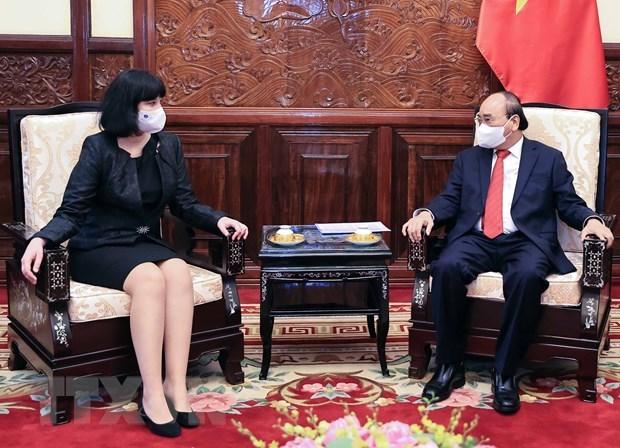 President Nguyen Xuan Phuc hosts foreign ambassadors hinh anh 4
