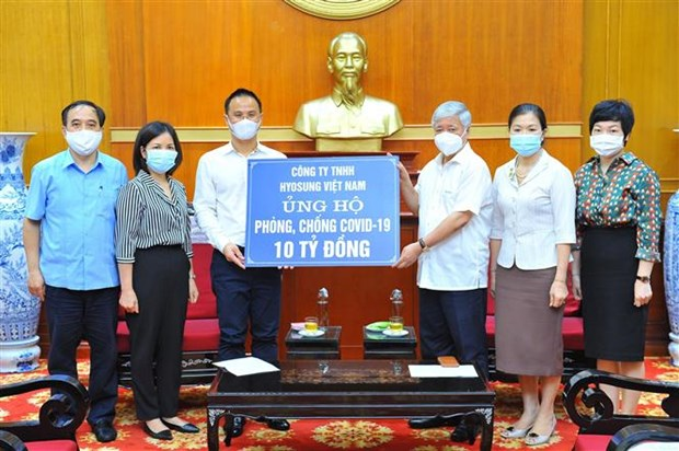 Korean firm contributes 10 billion VND to COVID-19 vaccine fund hinh anh 1