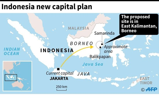 Indonesia to start moving state apparatus to new capital in 2023 hinh anh 1