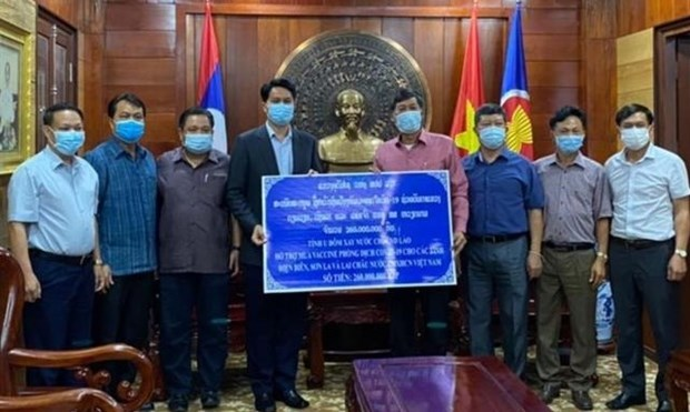 Lao province helps Vietnamese localities combat COVID-19 hinh anh 1
