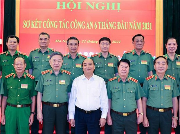 State President lauds public security forces hinh anh 1